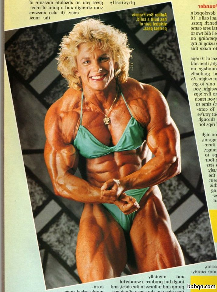 hot girl with muscular body and toned biceps post from facebook