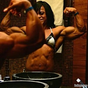 cute female with fitness body and muscle legs pic from tumblr