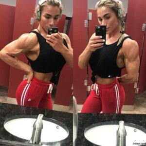 hottest female with strong body and muscle bottom photo from facebook