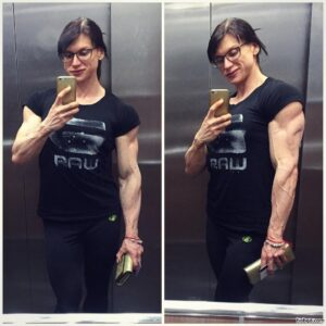 beautiful girl with muscle body and muscle biceps repost from g+