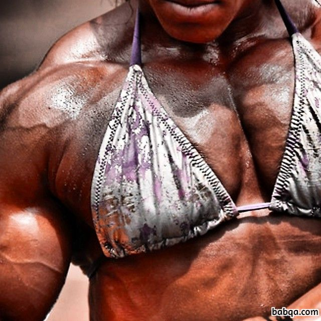 spicy female bodybuilder with muscular body and toned bottom photo from g+