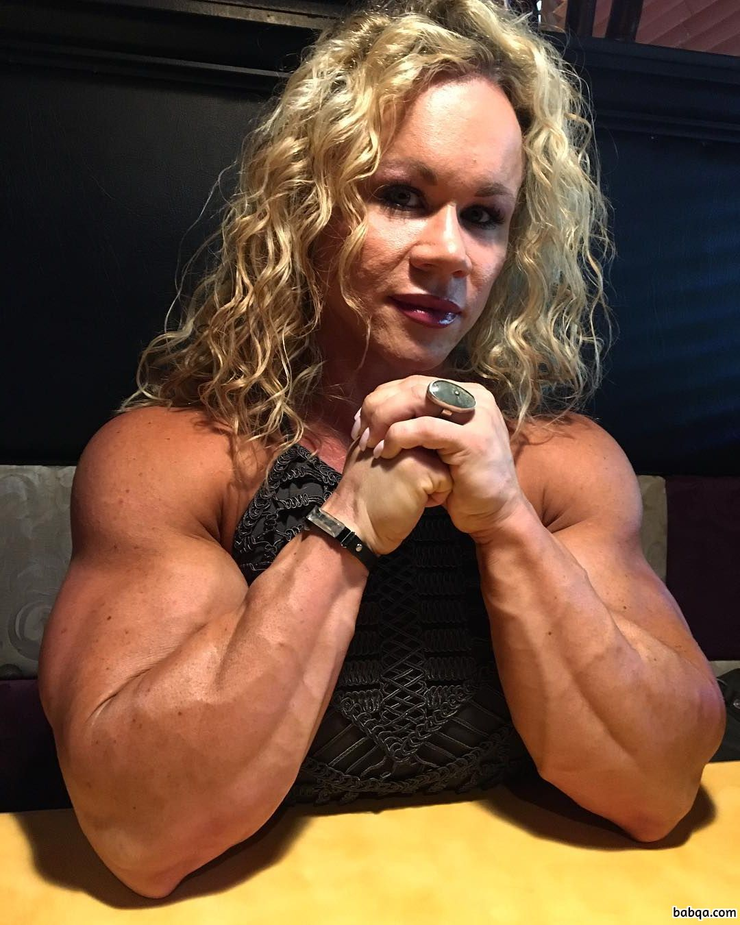 sexy lady with strong body and muscle legs photo from linkedin