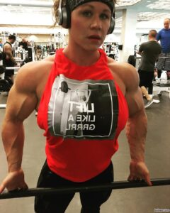 spicy female bodybuilder with fitness body and muscle legs repost from tumblr