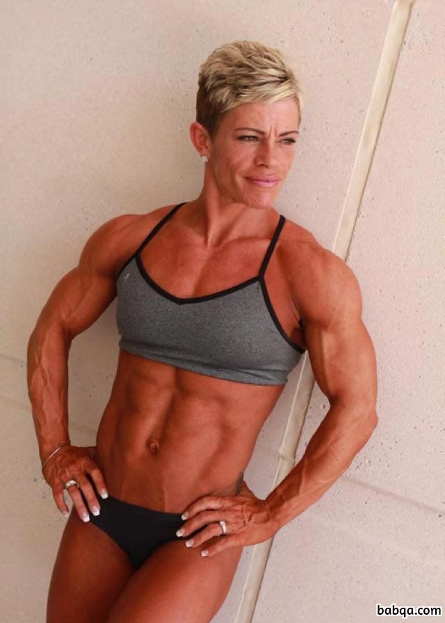 beautiful female with strong body and toned biceps photo from tumblr