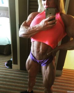 cute woman with muscle body and muscle booty pic from linkedin