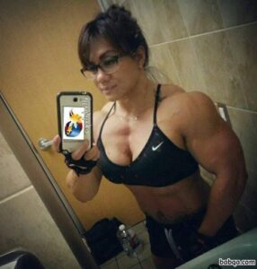 hottest female bodybuilder with muscular body and toned booty pic from facebook