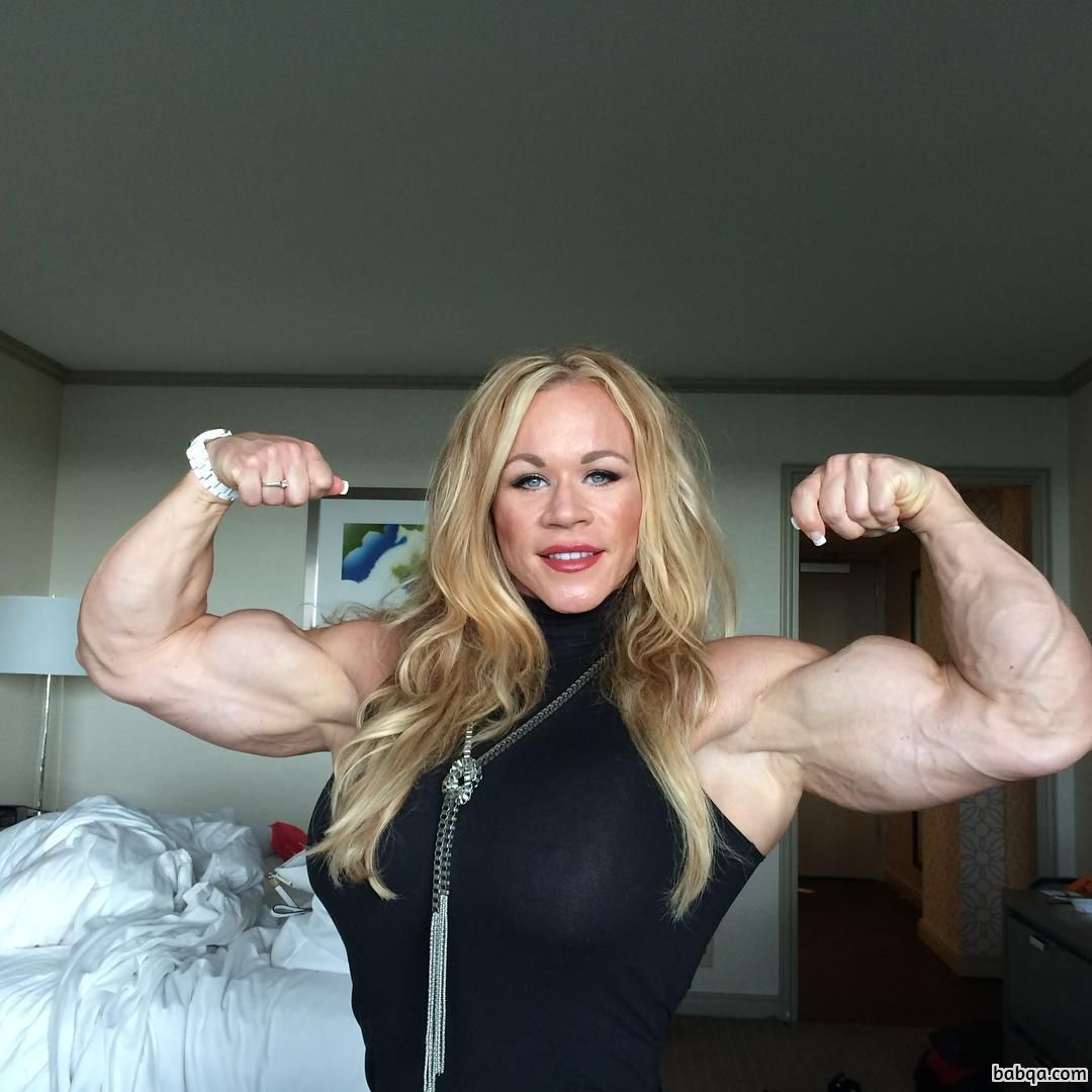 spicy babe with fitness body and muscle arms image from flickr