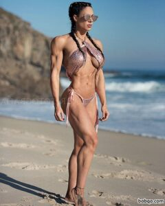 cute female bodybuilder with fitness body and toned arms pic from reddit