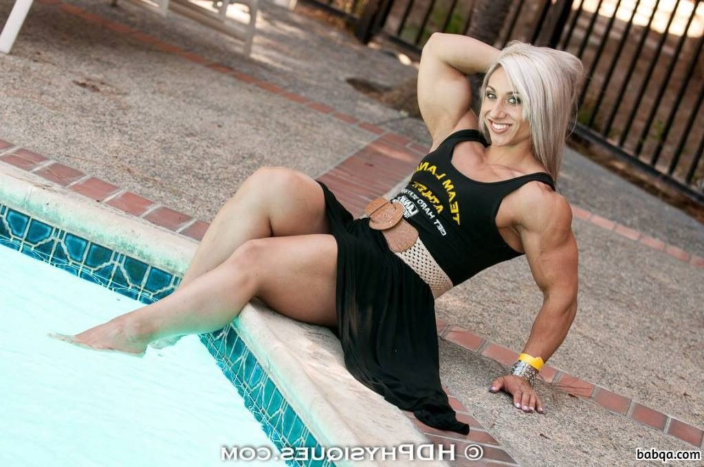 beautiful chick with muscular body and toned biceps picture from tumblr