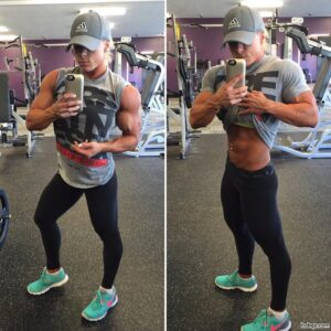 perfect female bodybuilder with muscle body and muscle biceps repost from linkedin