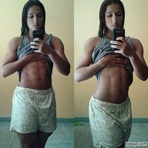 awesome chick with muscular body and muscle arms post from tumblr