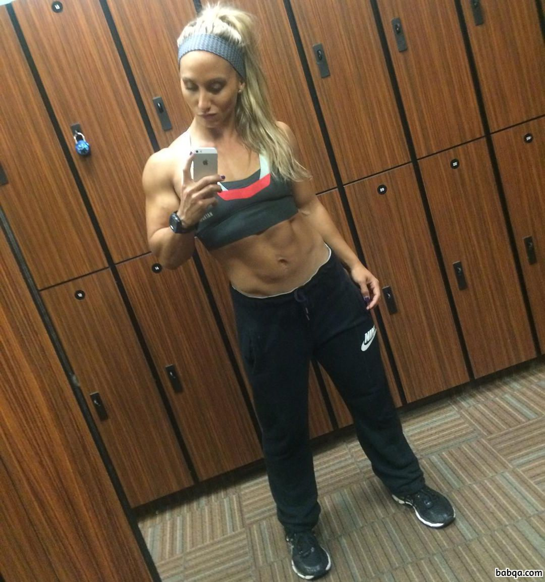 awesome female with muscle body and muscle biceps pic from linkedin