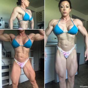 awesome female bodybuilder with fitness body and muscle ass repost from linkedin