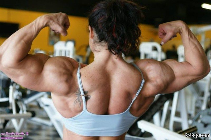 hot lady with muscle body and toned arms repost from g+