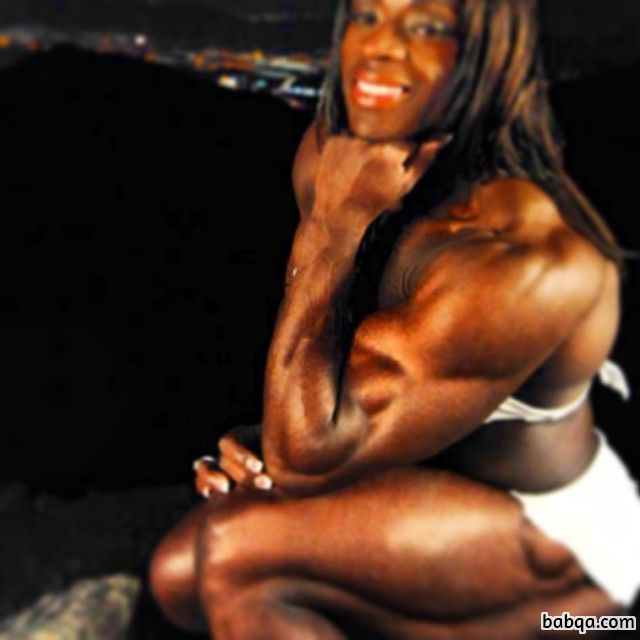 hottest babe with strong body and muscle biceps picture from facebook