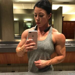 perfect female bodybuilder with muscular body and toned arms image from g+