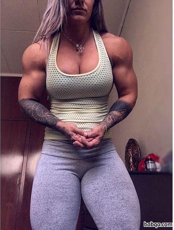 hot female bodybuilder with strong body and muscle booty repost from facebook