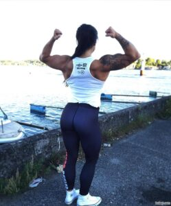 awesome female bodybuilder with muscle body and toned arms pic from facebook