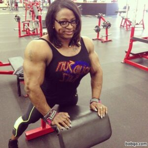 perfect woman with strong body and toned arms picture from linkedin