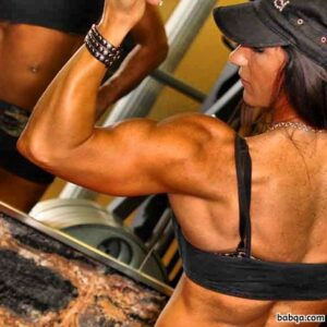awesome woman with strong body and muscle arms photo from tumblr