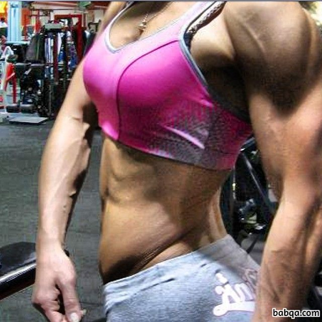 beautiful woman with strong body and toned arms photo from tumblr