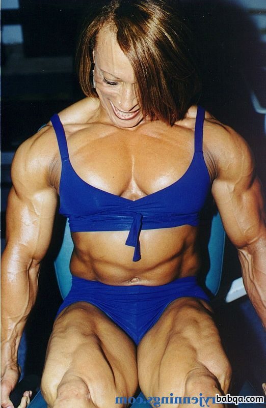 spicy female bodybuilder with muscular body and toned booty image from g+