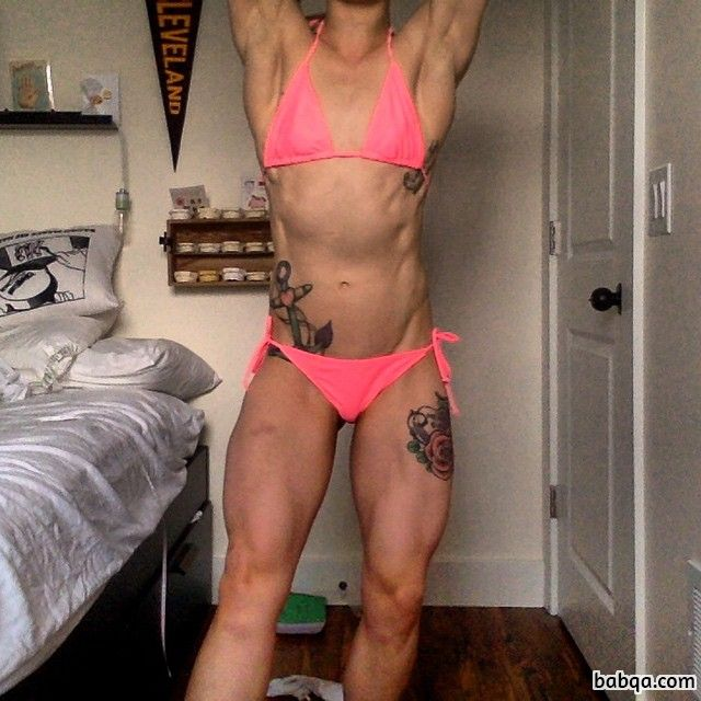 sexy chick with strong body and muscle legs repost from tumblr