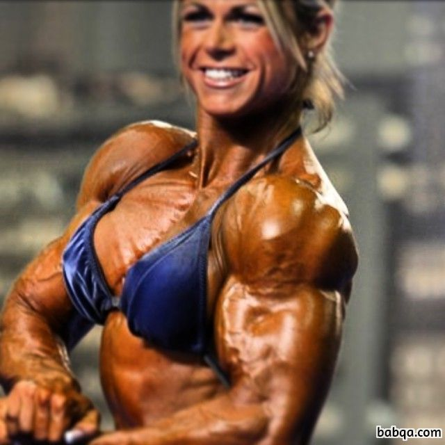 cute woman with muscle body and muscle bottom image from instagram