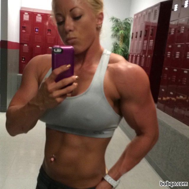 perfect female bodybuilder with muscle body and muscle arms repost from facebook