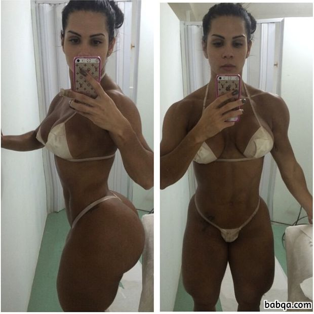hottest babe with muscular body and toned ass post from facebook