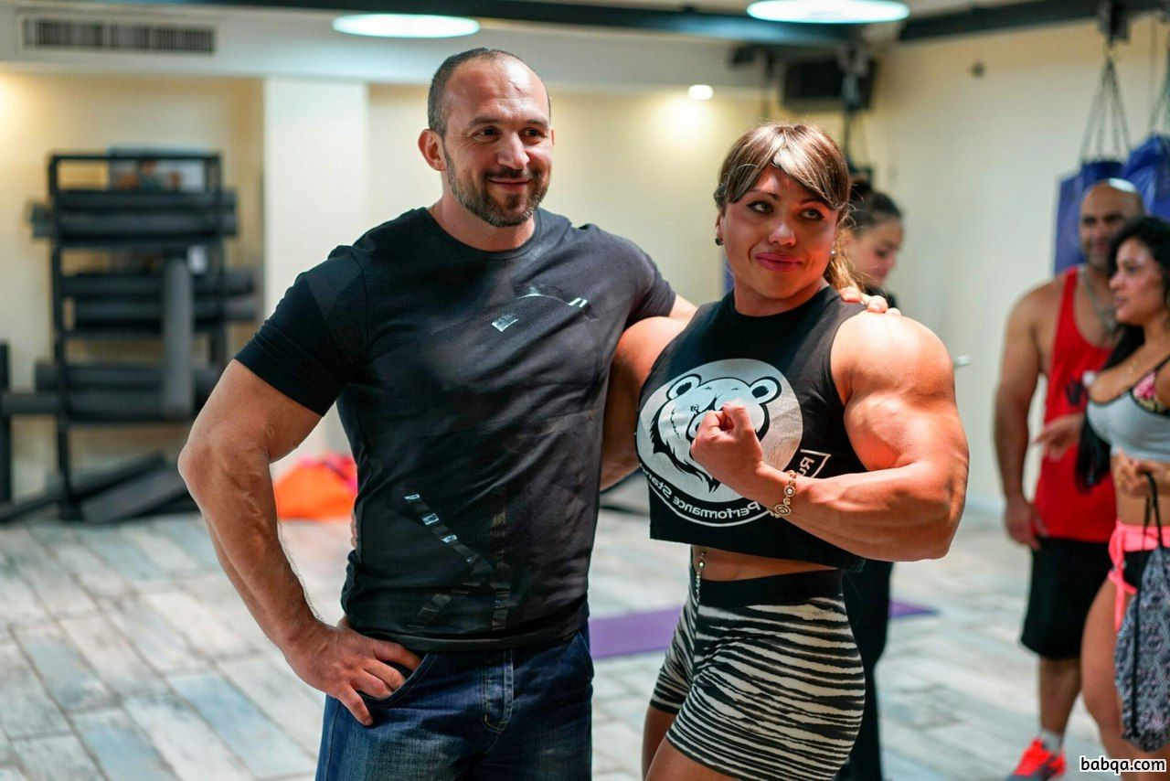 hottest lady with strong body and toned biceps photo from reddit
