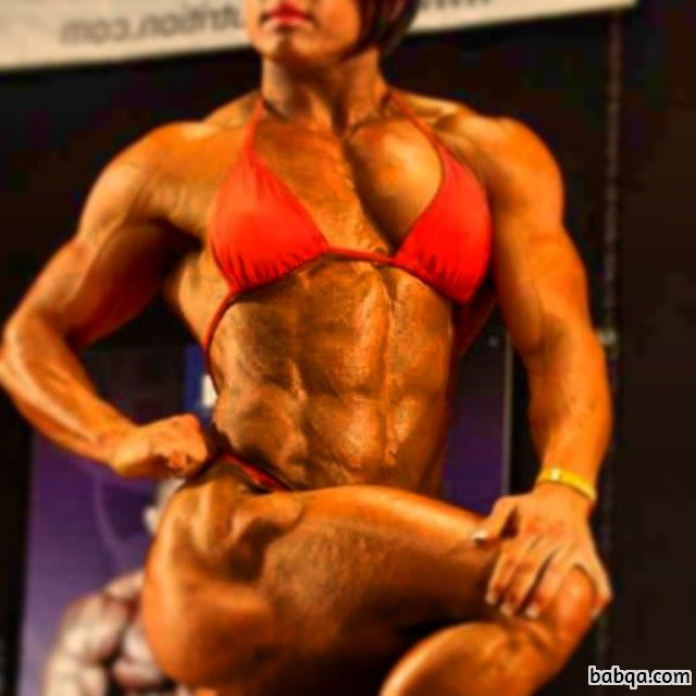 hot female bodybuilder with strong body and toned biceps picture from flickr