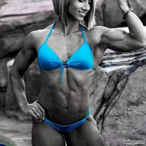 beautiful lady with fitness body and muscle arms repost from tumblr