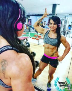 awesome chick with muscle body and toned arms image from linkedin