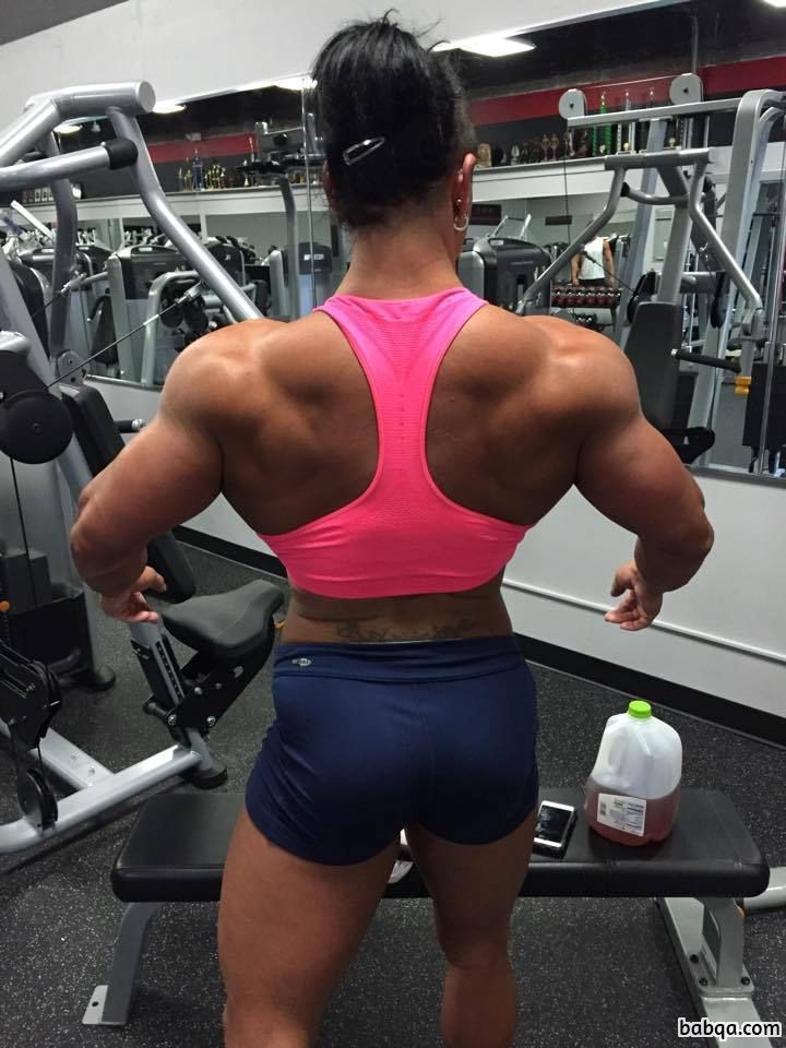 perfect female with muscular body and muscle booty repost from tumblr