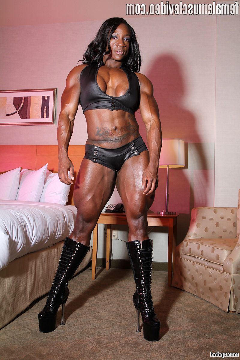 perfect girl with fitness body and muscle arms picture from g+