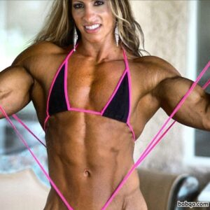 beautiful female with muscular body and toned biceps pic from flickr