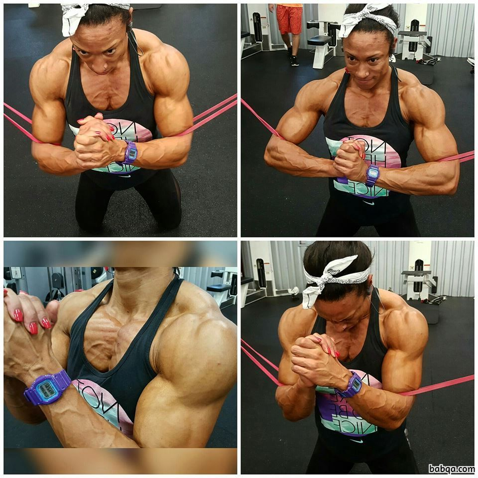 hottest female with muscular body and toned arms post from linkedin