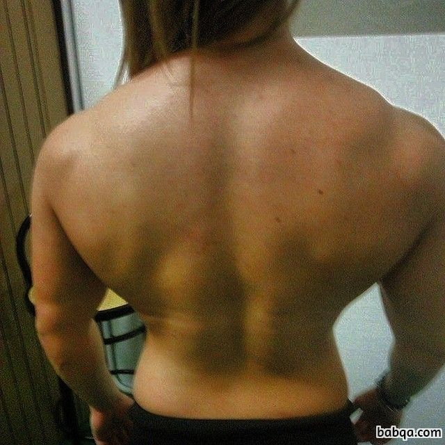 perfect girl with muscular body and muscle bottom post from facebook