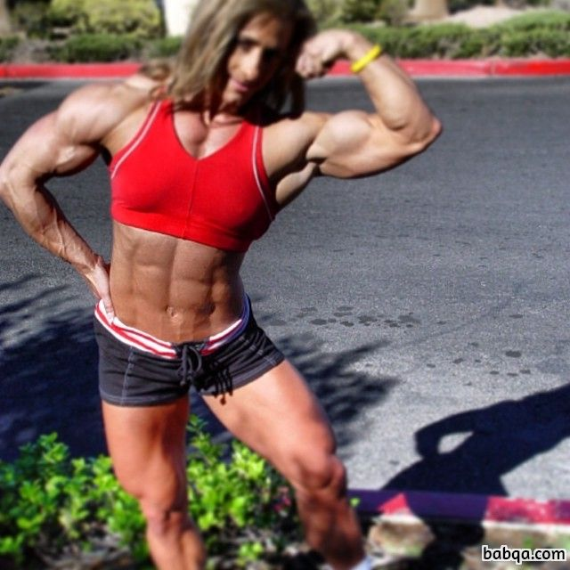 sexy woman with strong body and muscle bottom repost from tumblr