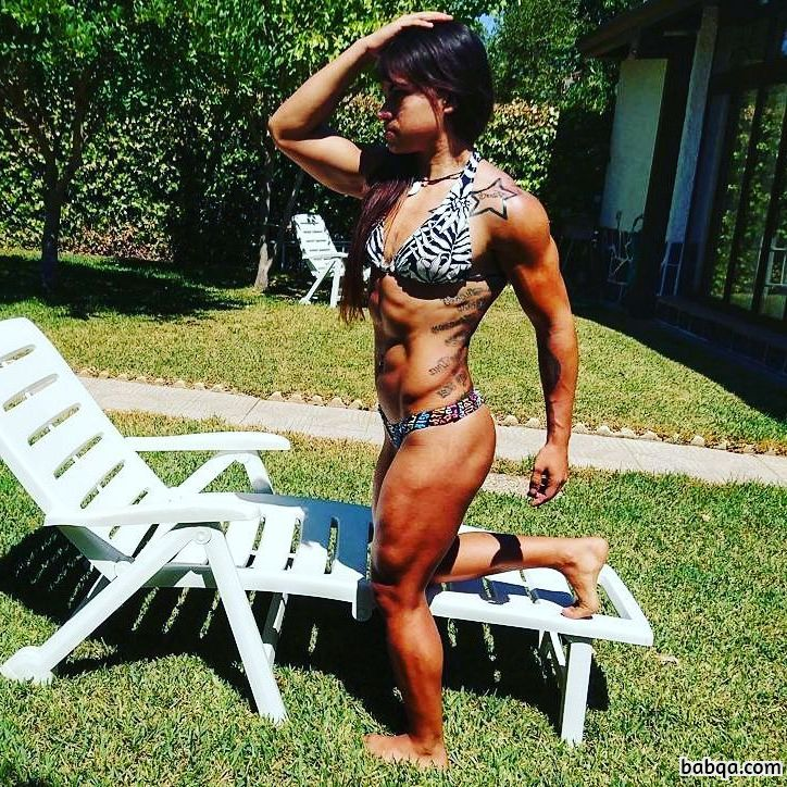 spicy lady with strong body and muscle biceps repost from g+