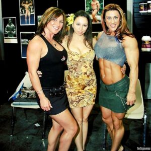 hot female bodybuilder with muscle body and muscle arms post from linkedin