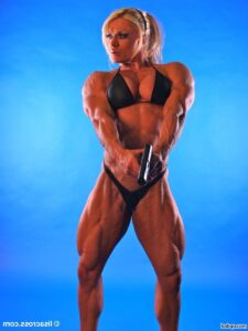 hottest female bodybuilder with muscle body and toned biceps picture from tumblr