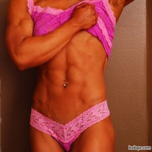perfect woman with fitness body and muscle bottom pic from flickr