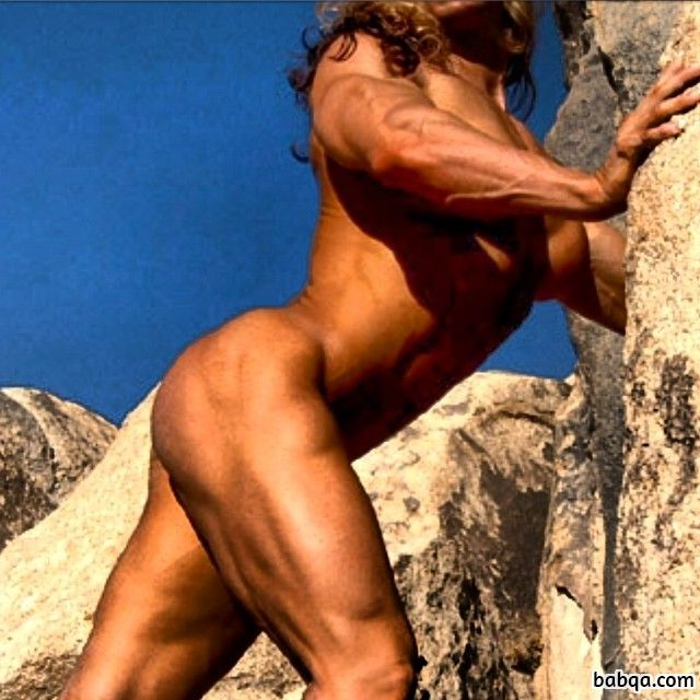 awesome lady with fitness body and muscle legs pic from facebook