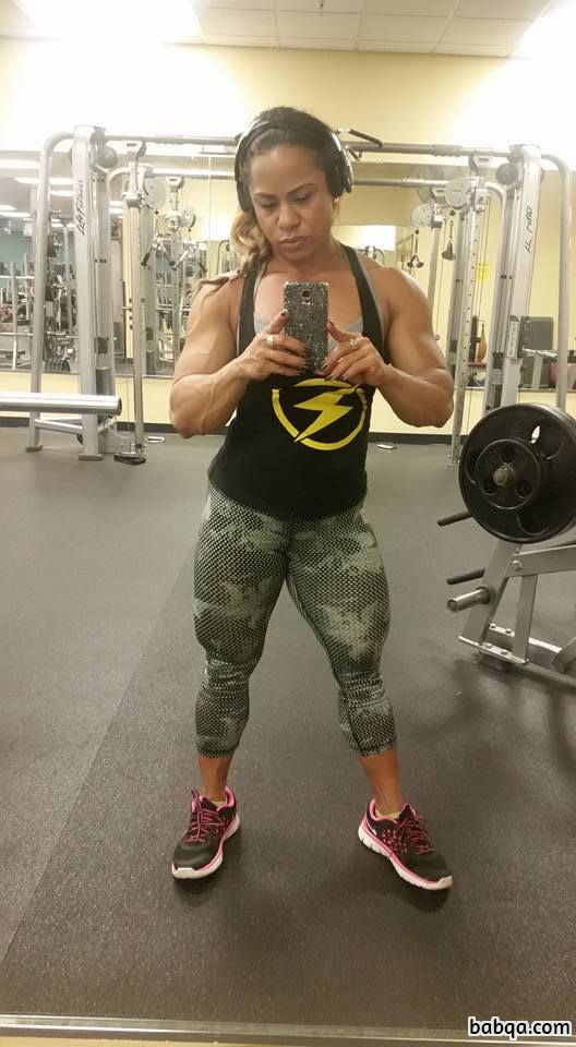 hottest female with muscular body and toned biceps pic from g+