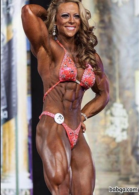 hottest chick with strong body and muscle arms pic from facebook