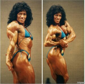 spicy female bodybuilder with muscle body and muscle bottom photo from g+