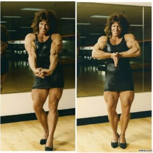 hot woman with fitness body and toned arms picture from g+