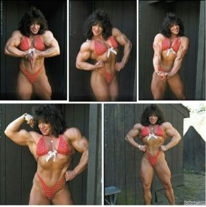 beautiful female with fitness body and muscle arms post from g+